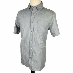 NEW North Face Button Front Shirt Medium Gray